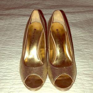 Michael Kora Gold stiletto heels
